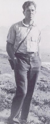Clarence on western climbing trip, 1929
